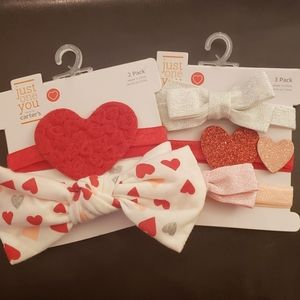 Just One You by Carter's Heart Headbands 5 Pack